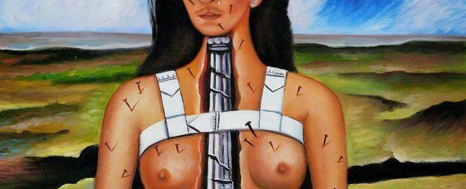 Quadro A Coluna Partida - Frida Kahlo